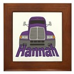 Trucker Hannah Framed Tile