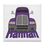 Trucker Hannah Tile Coaster