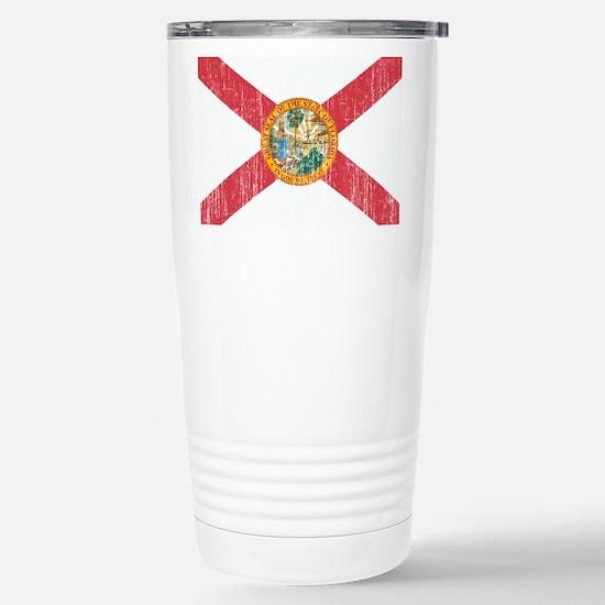 Florida Flag Stainless Steel Travel Mug