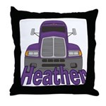 Trucker Heather Throw Pillow