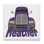 Trucker Heather Tile Coaster