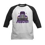 Trucker Heather Kids Baseball Jersey