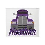 Trucker Heather Throw Blanket