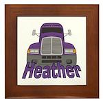 Trucker Heather Framed Tile