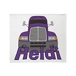 Trucker Heidi Throw Blanket