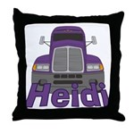 Trucker Heidi Throw Pillow