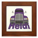 Trucker Heidi Framed Tile