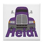 Trucker Heidi Tile Coaster