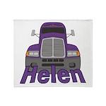 Trucker Helen Throw Blanket