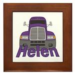 Trucker Helen Framed Tile