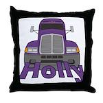 Trucker Holly Throw Pillow