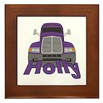 Trucker Holly Framed Tile