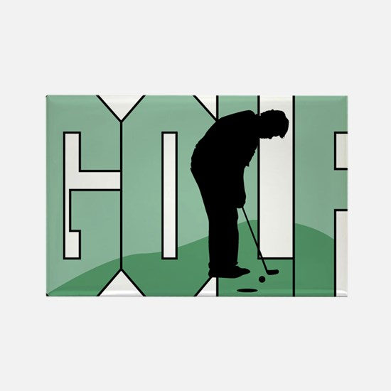 Golf16 Rectangle Magnet