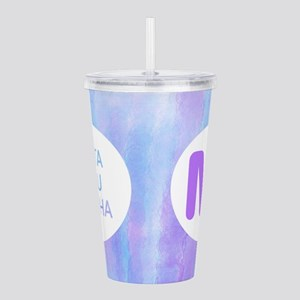 Zeta Tau Alpha Purple Acrylic Double-wall Tumbler