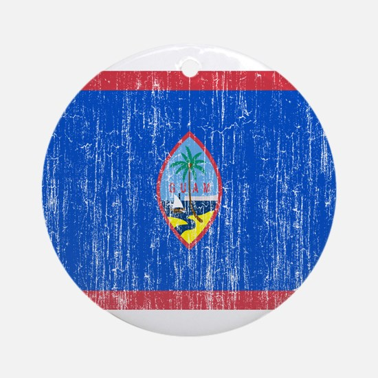 Guam Flag Ornament (Round)
