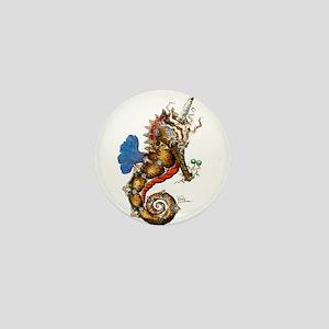 Unicorn Pegasus Seahorse Mini Button