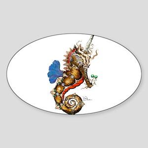 Unicorn Pegasus Seahorse Sticker (Oval)
