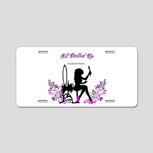 All dolled up Aluminum License Plate