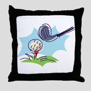Golf24 Throw Pillow