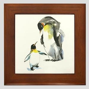 Parent-child Penguin Framed Tile