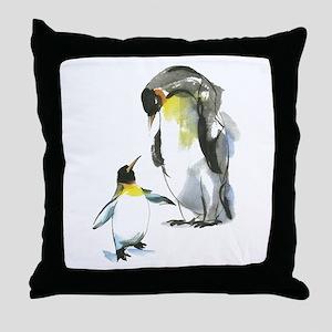 Parent-child Penguin Throw Pillow