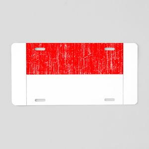 Indonesia Flag Aluminum License Plate