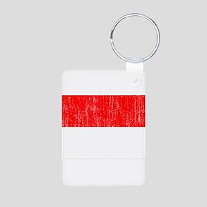Indonesia Flag Aluminum Photo Keychain
