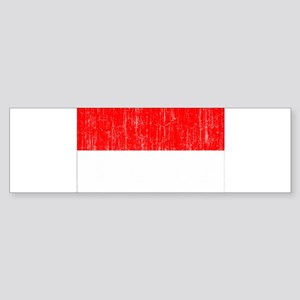 Indonesia Flag Sticker (Bumper)