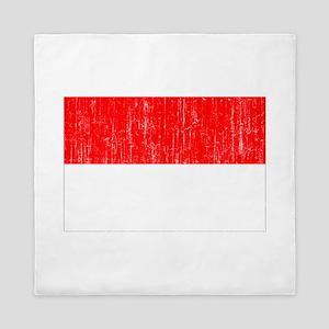 Indonesia Flag Queen Duvet