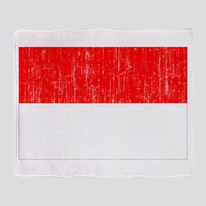 Indonesia Flag Throw Blanket