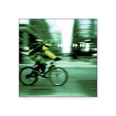 "Urban Cyclist Square Sticker 3"" x 3"""