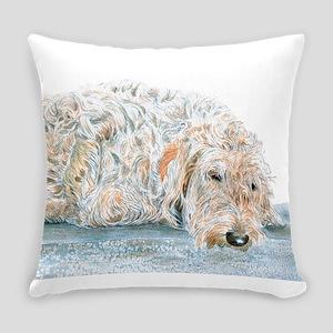 Sleepy Labradoodle Everyday Pillow