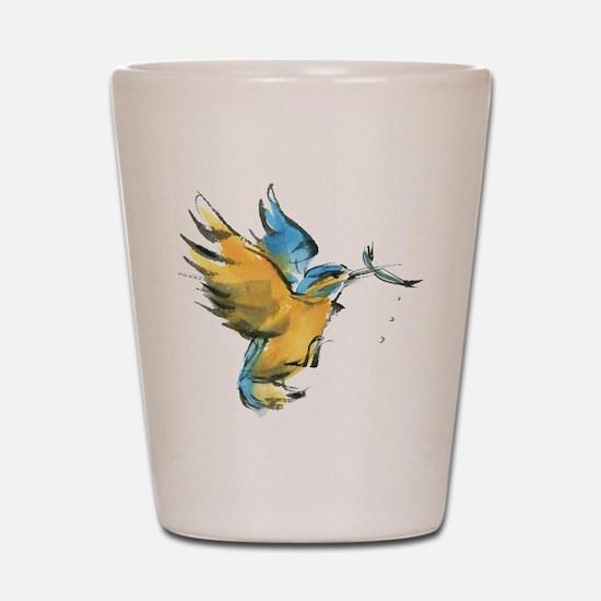 kingfisher Shot Glass