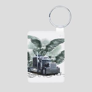 Independent Spirit Aluminum Photo Keychain