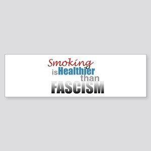 Smoking Fascism Sticker (Bumper)