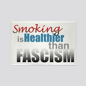 Smoking Fascism Rectangle Magnet