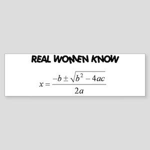 Real Women Sticker (Bumper)