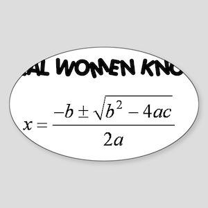 Real Women Sticker (Oval)