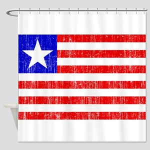 Liberia Flag Shower Curtain