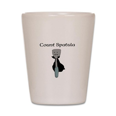 Count Spatula Shot Glass