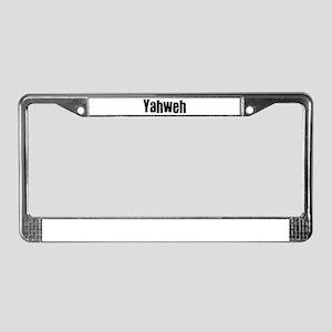 Yahweh License Plate Frame