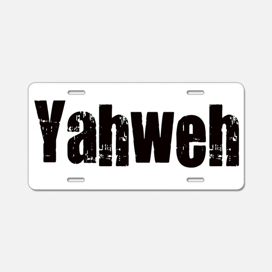 Yahweh Aluminum License Plate