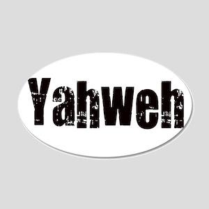 Yahweh 20x12 Oval Wall Decal