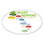 Island Hoppers Sticker (Oval 10 pk)