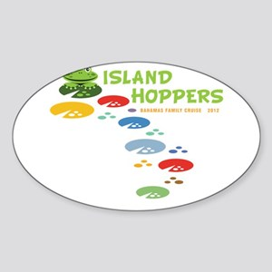 Island Hoppers Sticker (Oval)