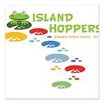 Island Hoppers Square Car Magnet 3
