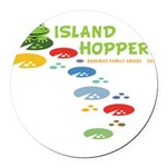 Island Hoppers Round Car Magnet
