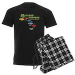 Island Hoppers Men's Dark Pajamas