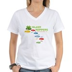 Island Hoppers Women's V-Neck T-Shirt
