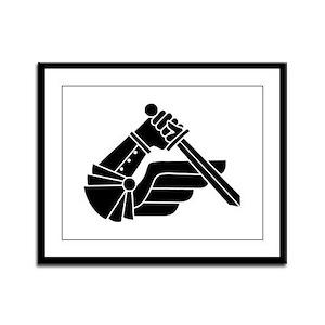 2 Commando Battalion Motorized Framed Panel Print